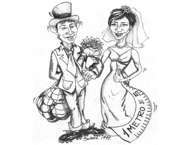 caricatura sposi matrimonio china