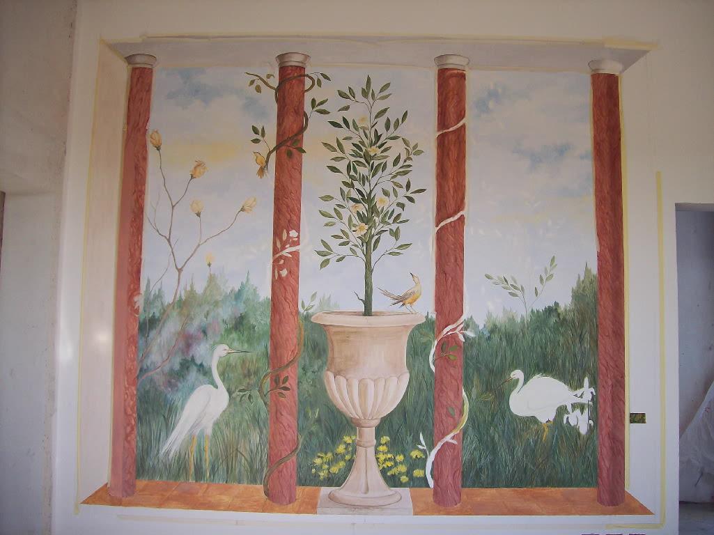 Barbara galizia murales muri dipinti decorazioni di - Decorazioni per muri interni ...